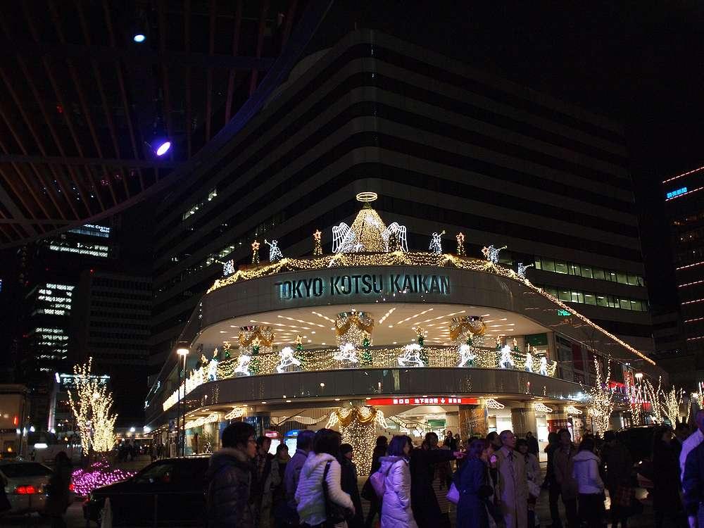 10.12.24撮影 有楽町 交通会館のイルミネーション